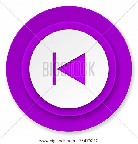 previous icon, violet button