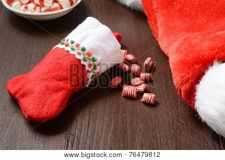 Christmas Stocking With Candy
