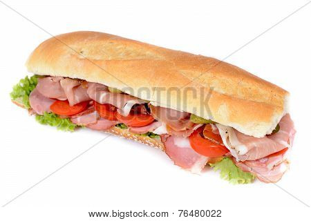 Prosciutto Sandwich Isolated