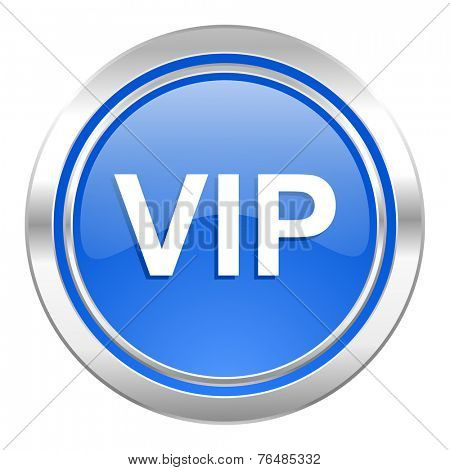 vip icon, blue button