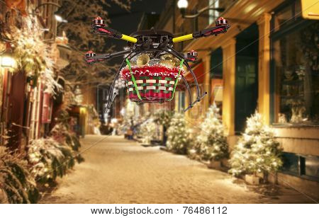 Aerial Christmas Delivery