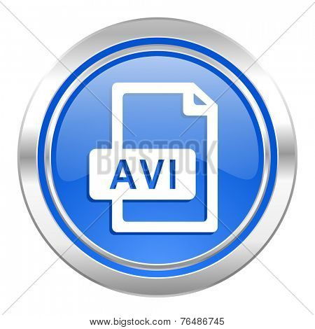 avi file icon, blue button