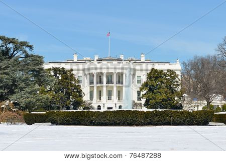The White House in Winter - Washington DC, United States