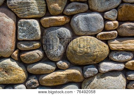 River Rock Wall Horizontal