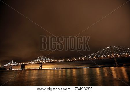 Bay Bridge connecting Oakland and San Francisco