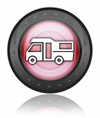 pic of motorhome  - Image Graphic Icon Button Pictogram with Motorhome symbol - JPG