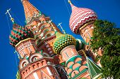 picture of world-famous  - The Cathedral of Vasily the Blessed commonly known as Saint Basil - JPG