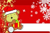 picture of baby-monkey  - monkey  baby cartoon xmas background in vector format very easy to edit - JPG