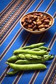 foto of bean-pod  - Fresh raw fava beans  - JPG