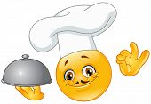 pic of smiley face  - Vector emoticon design of a cheerful chef - JPG