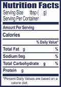picture of placeholder  - The label for information on nutritional value - JPG