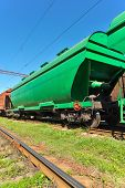 picture of hoppers  - Grain hoppers on the railway track  - JPG