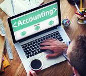 stock photo of accounting  - Accounting Budgeting Financial Service Ananlysing Concepts - JPG