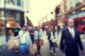 stock photo of anonymous  - people in bokeh - JPG