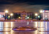 stock photo of lenin  - The main square of Khabarovsk  - JPG