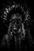 stock photo of indian chief  - Native - JPG