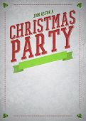 image of office party  - Christmas party invitation poster or flyer background with empty space - JPG
