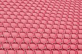 picture of bleachers  - Red seat in sport stadium empty seats ready for the public - JPG