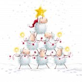 image of christmas greetings  - Christmas sheep - JPG