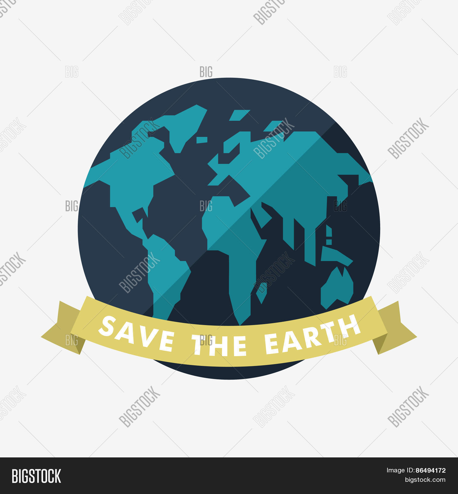 Poster design on save earth - Vintage Earth Day Celebrating Card Or Poster Design Save The Earth