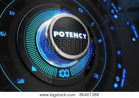 Potency Controller on Black Control Console.