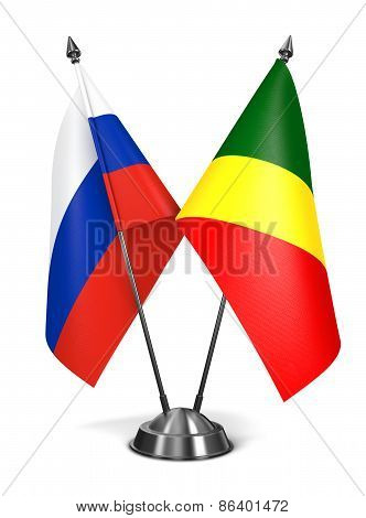 Russia and Republic Congo - Miniature Flags.