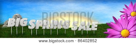 Big spring sale background template