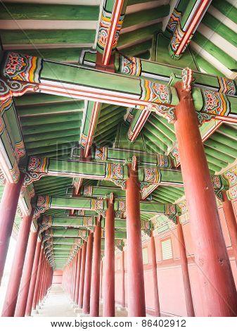 Corridor Of Gyeongbokgung Palace