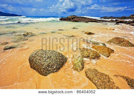 Exotic tropical beach. Thailand