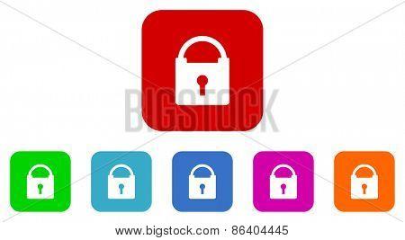 security vector icon set