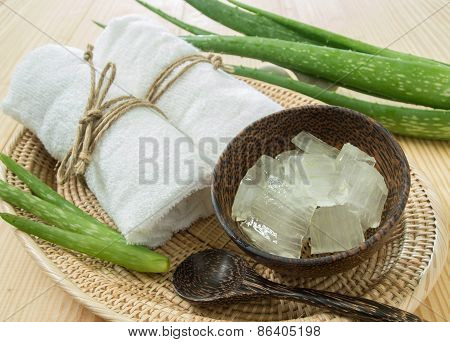 Spa Concept With Aloe Vera