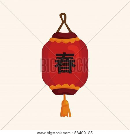 Chinese New Year Theme Elements, Chinese Decorative Lantern