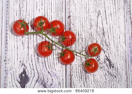 Red Tomatoes On A Branch - Cherry Tomatoes
