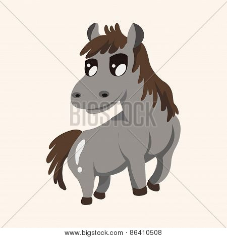 Animal Horse Cartoon Theme Elements