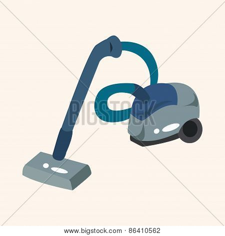 Home Appliances Theme Vacuum Cleaner Elements