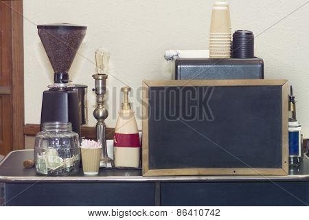 Coffee espresso cart
