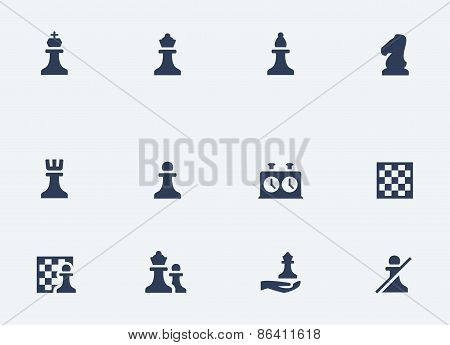 Chess Related Vector Icons Set