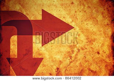 Direction Arrows On Grunge Paper