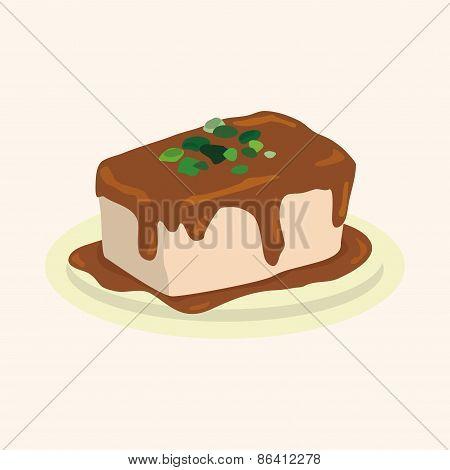 Chinese Food Tofu Theme Elements