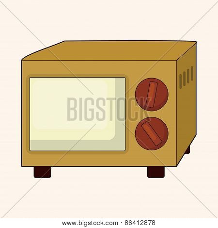 Home Appliances Theme Microwave Elements