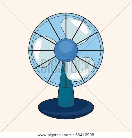 Home Appliances Theme Electric Fan Elements