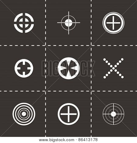 Vector target icons set