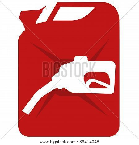 Vector illustration of canister on white background