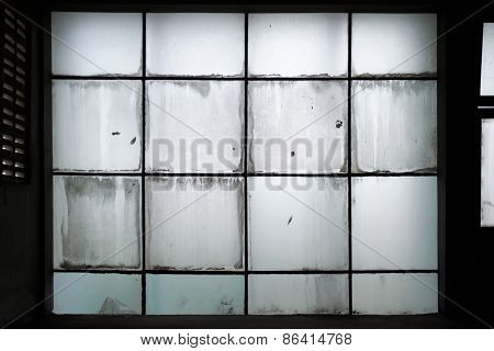 Dirty Glass Wall