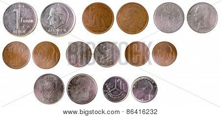 Different Old Belgian Coins