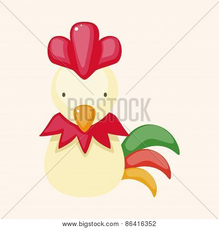 Chinese Zodiac Rooster Theme Elements