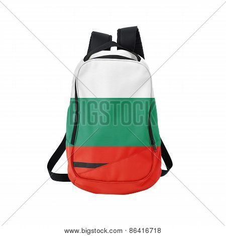 Bulgaria Flag Backpack Isolated On White