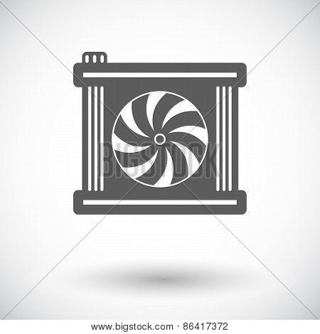 Radiator fan icon.