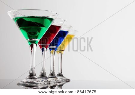 Color Cocktails In Line
