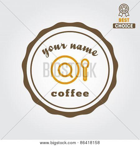 Vintage logo for coffee shop, cafe and restaurant